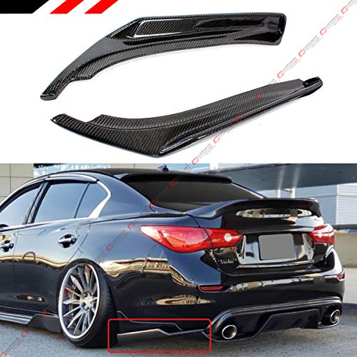 FITS FOR 2018-2019 TOYOTA CAMRY SE XSE ART STYLE GLOSSY BLACK REAR BUMPER SIDE CORNER SPATS SPLITTERS APRON VALANCE