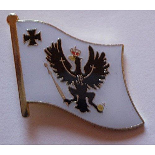 Flaggen-Pin vergoldet : Preußen/Preussen mit eisernem Kreuz
