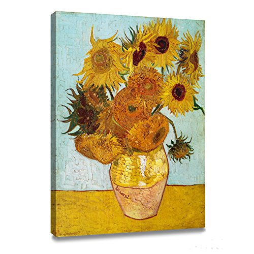 ArtKisser Vincent Van Gogh Sunflowers Wall Art(Vase with Twelve Sunflowers) Art Poster Print Framed