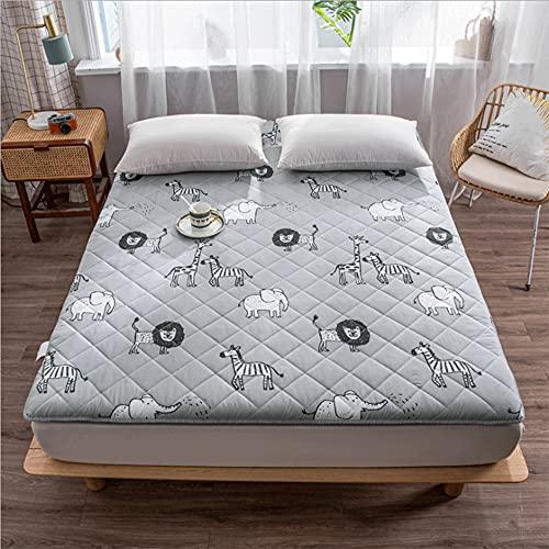 QYYL Colchón de Tatami Dormitorio, Japonés Plegable Colchón Suelo, Comodo futón Estera, Cómodo Transpirable, para Estudiante Dormitorio Sala De Estar (F,90x190cm)