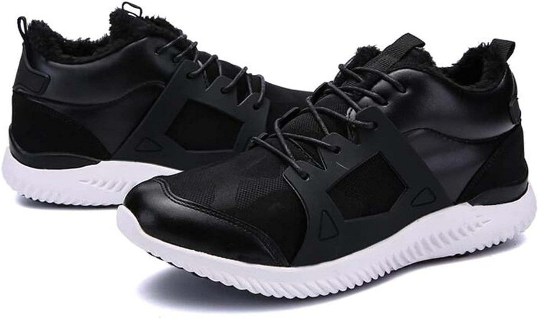 Men's shoes Feifei Winter Keep Warm Fashion Wear-Resistant Sports shoes 4 colors (color   02, Size   EU43 UK9 CN44)