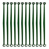 YHNHT Conectores de jaula de tomate, 36 brazos de estaca para jaula de tomate, conectores de enrejado expandibles de 11.8 pulgadas para cualquier estaca de planta de 11 mm de diámetro, 2 hebillas