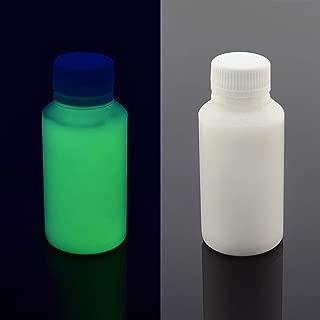 Reactivos a la luz UV negra casi invisible pintura, color verde