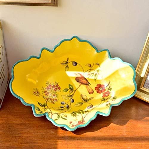 WSHFHDLC Cuenco de la Cultura Popular Placa de América del clásico Cesta de Fruta Plato de Fruta de la Fruta Cuenco de la Cultura Popular (Color : A)