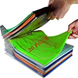 Nifogo Organizador Camisetas,Organizador Ropa,Organizador de Armario, Organizador de Almacenamiento,Plegable Apilamiento Camisas Camiseta Folder,Tamaño Normal (20pack)