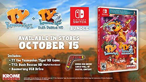 Ty The Tasmanian Tiger HD + Ty The Tasmanian Tiger 2: Bush Rescue HD Bundle - Nintendo Switch