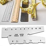 Misuratore di filettatura, misuratore di passo, misuratore di filettatura, per misura file...
