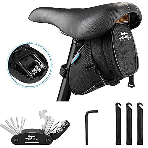 WOTOW Fahrrad-Rahmentasche für das Smartphone, vorderer Stangenbereich, Oben, Mountainbike/Rennrad, Doppel-Tasche mit Touchscreen-Funktionalität (16-in-1-Sechskantschlüssel-Set)
