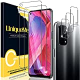 [2+3 Pack] UniqueMe Compatible con OPPO A54 5G (No Adecuado A54 4G) Protector de Pantalla y Protector de Lente de cámara, Vidrio Templado [9H Dureza] HD Film Cristal Templado