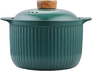 SHYOD Cacerola de cerámica Verde Utensilios Salud Sopa de Olla Olla Puede ser Abierto Suministros casa Llama de Cocina