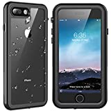 SPIDERCASE iPhone 7 Plus/8 Plus Waterproof Case, Built-in Screen Protector Cover 360 Degree Protection Rugged Clear Bumper Underwater Waterproof Case Compatible with iPhone 7 Plus/8 Plus 5.5inch