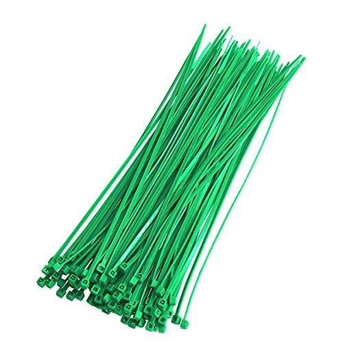 Bridas Para Cables 2,5 x 200 mm Verde 8 kg Resistencia a...