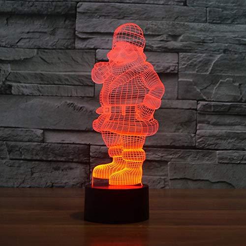XIAOXINYUAN Creativo Colorato Touch Control Babbo Natale Ha Condotto La Lampada da Comodino USB Sleep Nightlight Regalo Home Christmas Decor