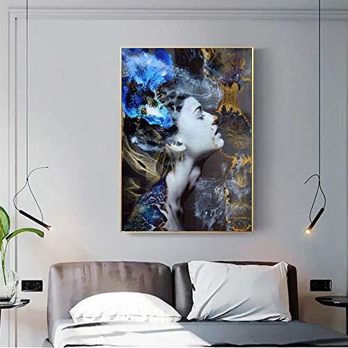 tzxdbh 13 Piezas de Pintura Retro de Estilo Europeo Mujer Desnuda HD surrealismo Arte de Pared Sala de Estar Pintura Abstracta 30x45cm Pas Sin Marco