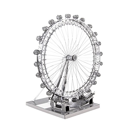 Fascinations Metal Earth ICX019 - 502830, London Eye, Konstruktionsspielzeug, 2 Metallplatinen, ab 14 Jahren