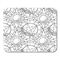 マウスパッドホイール占星術ぬりえナタール占星術チャート星座天体占いマウスマットマウスパッドノートブックデスクトップコンピューターに適したマウスパッド