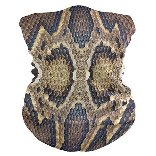 SunsetTrip Vintage Snake Print Multifunktionstuch Bandana Schal Gesicht Staub UV Neck Gaiter Stirnband Kopfbedeckung Halstuch für Sport Wandern Laufen Motorrad
