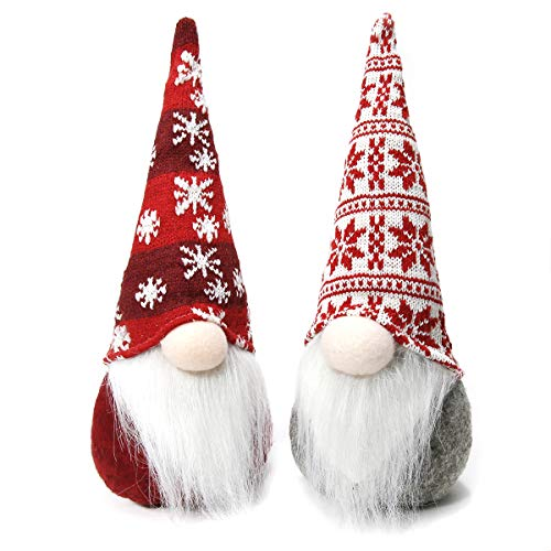 Townshine Christmas Gnome Tomte, Set of 2 Xmas Decor Toy Ornaments Gift Spring Home Household Ornaments - 12 Inches