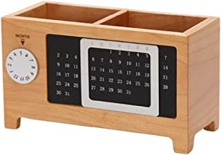 TOYANDONA Wood Desktop Storage Organize Remote Control Caddy Holder Wood Box Container for Office Home