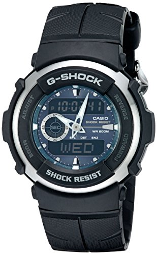 Casio Men's G-Shock G300-3AV Shock Resistant Black Resin Sport Watch