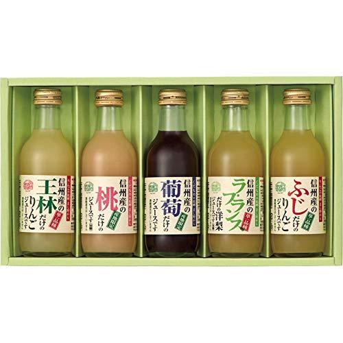 [お中元 夏ギフト] りんご村からのおくりもの 信州産フルーツジュース詰合せ (暑中見舞のし)