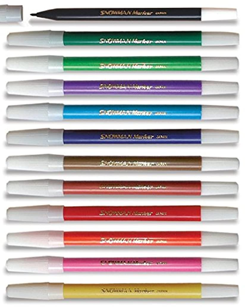 Snowman Premium Pencil Color Markers Perfect for School Art Painting Drawing and Coloring (12 Colors)