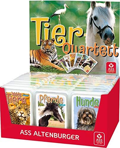 Spielkartenfabrik Altenburg Ass Display Tierquartette, 6-Fach Sortiert. - Sortiert, Preis Gilt für 1 Stück