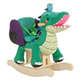 Labebe-Baby Rocking Horse, Wooden Rocking Toy for Toddler,Wooden Rocker,Rocking Horses,Kid Rocking Swan, Outdoor Animal Rocker,Baby gifts 1 year old girl /boy (Crocodile)