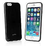 iPhone 6 Plus Case, BoxWave [Tuxedo SuitUp Case] Glossy Black TPU Gel Skin