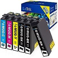 【LxTek】Epson用 エプソン互換 MUG-4CL インクカートリッジ MUG 6本セット(4色セット+黒2本) マグカップ インク『互換インク/2年保証/大容量/説明書付/残量表示/個包装』対応機種: EW-452A EW-052A