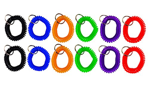 (Lot of 12) Keychains Spiral Wrist …