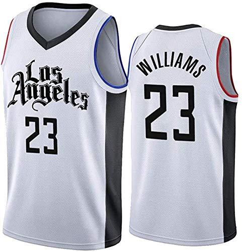 WSUN Maglia da Basket NBA da Uomo Los Angeles Clippers 23# Lou Williams NBA Unisex Top Senza Maniche Tute da Competizione per Sport all'Aria Aperta Gilet,M