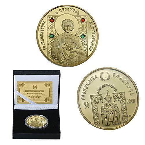 LSJTZ Rusia, Monje, Monja, la fe, la Moneda Conmemorativa, Dorado, colección, Moneda Conmemorativa, Buena Suerte, desafío, Exquisita, Regalo
