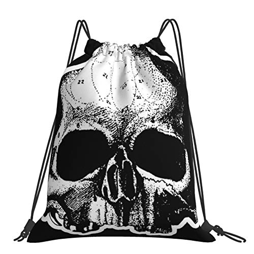 Skull Black Label Society Drawstring Backpack Bag, Sports Gym Sackpack Bags For Yoga Gym Swimming Travel Beach