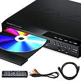 Gueray Lettore DVD per Televisore Multi Regione Libera Lettori DVD con uscita HDMI ingresso USB ingresso 2 MIC Display a LED con Telecomando cavo HDMI e AV incluso