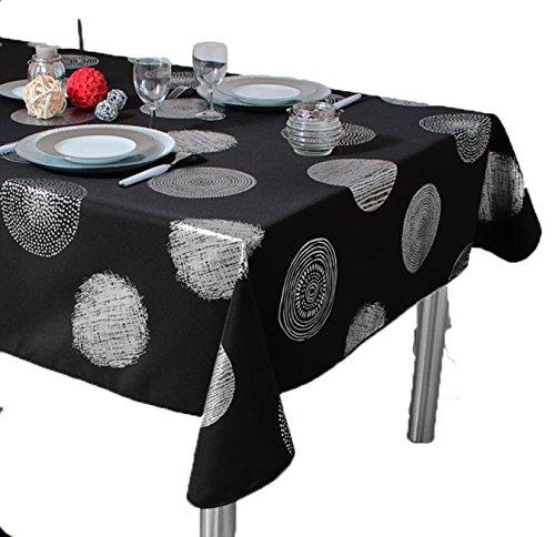 ExclusivoCIR Set Bright Black gaufree Anti-Taches Couleurs Primaverales Decoracion Hogar 350 x 150 cm