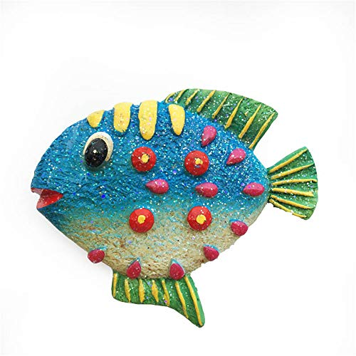 Imán para nevera con diseño de peces marinos en 3D, Maldivas, Bali, Jamaica, Bahamas, Grecia, nevera, recuerdo de viaje, decoración para el hogar o la cocina