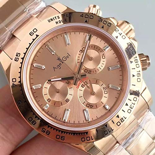 HHBB Marca de lujo hombres reloj mecánico automático relojes completo acero inoxidable negro rosa oro zafiro cristal deporte relojes Aaa+ oro