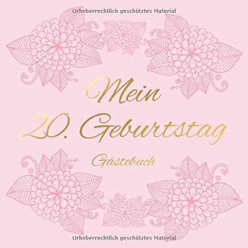 Mein 20. Geburtstag Gästebuch: Vintage Gästebuch Album - 20 Jahre Geschenkidee Zum Eintragen und...