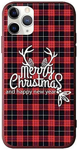 """BLLQ iPhone 11 Pro Max Case Christmas Design, Soft Silicone Slim Thin Fit Xmas Gift Case Compatible with iPhone 11 Pro 6.5"""", 116.5 Red-Black"""