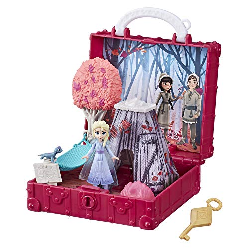 Disney Eiskönigin Pop-Up Abenteuer Der verzauberte Wald Spielset mit Griff, inklusive ELSA Puppe, Spielzeug zum Disney Film Die Eiskönigin 2