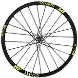 Juego de 2 pegatinas para llantas de bicicleta de montaña para MTB Dh vinilo Race Dirt calcomanías de repuesto, color 27.5er Fluo Green, tamaño talla única