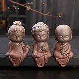 PRDECE Cerámica Klin Monje Estatuas de Buda Esculturas budistas Tathagata Lindo Budha decoración del jardín del hogar Buda Adornos de Mesa Boutique