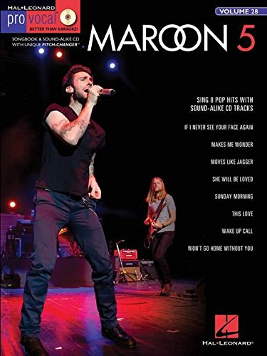 Pro Vocal For Male Singers Volume 28 Maroon 5 + Cd