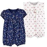 Bebé Verano Pelele Manga Corta Niñas Niños Pijama de Algodón Mameluco Monos Trajes para Infantil 12-18 Meses
