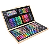 Rotuladores y Colores Deluxe Art Set 180 Piezas for Suministros Acuarela Dibujo de bocetos for Colorear Dibujo para Colorear (Color : Natural, Size : Free Size)