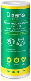 Disane Polvo Antiparasitario para Perros  Repelente de Insectos Natural 250g  Antipulgas en Talco...