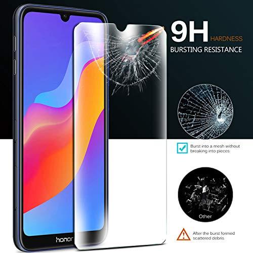 KuGi. für Honor 8A / Huawei Y6 Pro 2019 / Y6 2019 Panzerglas, Honor 8A Schutzfolie 9H Hartglas HD Glas Blasenfrei Displayschutzfolie passt für Honor 8A Smartphone. Klar [2 Pack] - 5