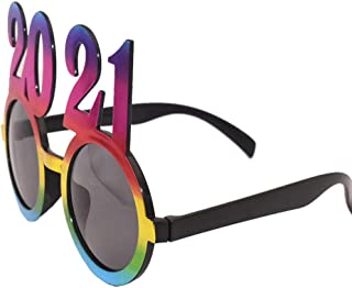 Tomaibaby 3pcs 2021 Funny Sunglasses Novelty Party Glasses Eyewear Party Supply Photo Prop for New Year Dancing Graduation...