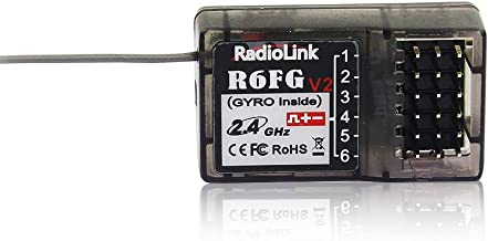 Radiolink R6FG 6CH 2.4G RC Receiver with Gyro Integrated HV Servo for Transmitter RC4GS/RC6GS/RC4G/T8FB/T8S